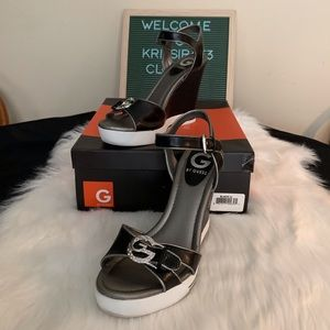 G by Guess Mandy Wedge Sandal Size 7.5